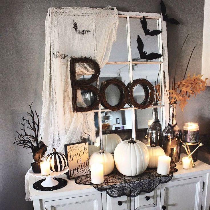 The glam farmhouse blog Halloween Fall decor