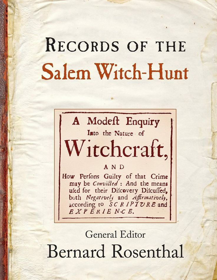 I have not read this one yet... Records of the Salem Witch-Hunt by Bernard Rosenthal... it's on my list though...