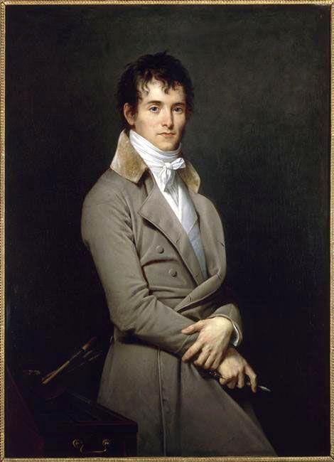 Robert Lefèvre : Portrait du peintre Pierre Narcisse Guérin. Jeune homme mince, très élégant, en redingote grise. (Salon de 1801)  Peintures des Musées de France: ORLEANS 19e - 20e s.