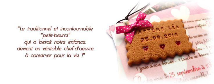 Votre biscuit sur-mesure ! Des créations originales pour la naissance de votre bébé et son baptême (faire-part, boites à dragée, menu, cadeaux d'invités...)