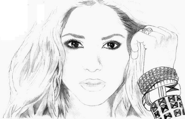 shakira coloring page for fans coloring pages important people celeb peoplecom biographies coloring page coloring book 7jpg 800516 pinterest - Coloring Pages People Realistic