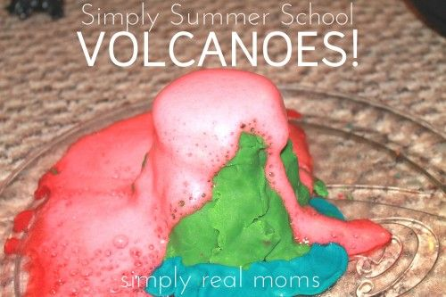 Amaze your kids! Make volcanoes with them-and books to go along with it! Weekly activity and tips all summer long!