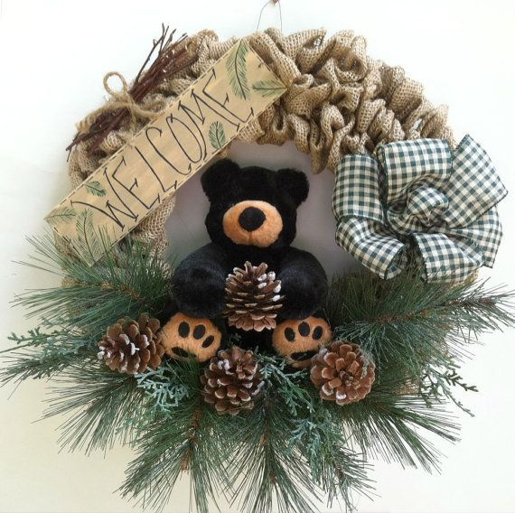 Bear, Welcome Wreath