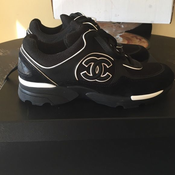 Authentic Chanel sneakers Comes with box and dust bag. Alittle dirty on the heal shown in picture CHANEL Shoes Sneakers