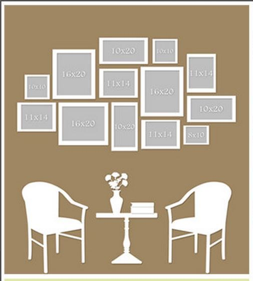 17 best images about photo display guides on pinterest for Wall hanging picture display