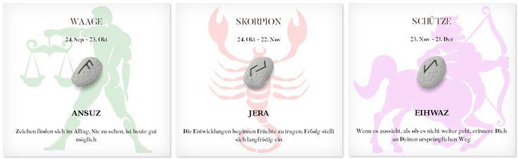 Runen Tageshoroskop 26.2.2017 #Sternzeichen #Runen #Horoskope #waage #skorpion #schütze