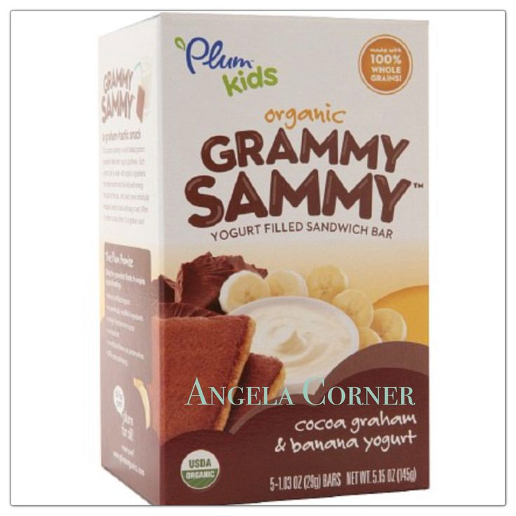 Plum Kids Organic Grammy Sammy Yogurt Filled Sandwich Bar, Cocoa Graham & Banana Yogurt 5.15 oz (145 g)