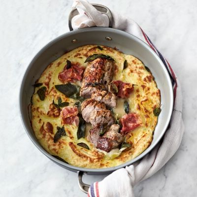 Jamie Oliver's pork and mash gratin