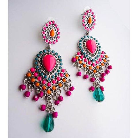 Drop Earring Glamour Pink