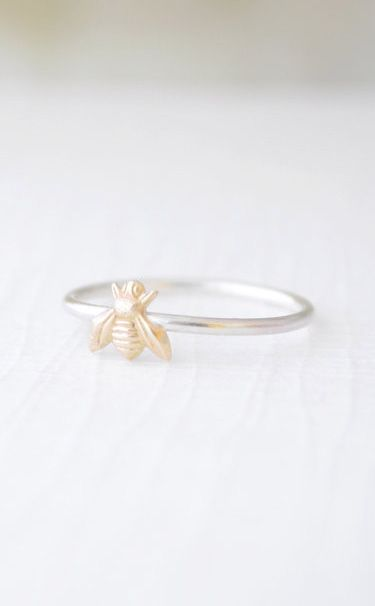 Tiny Bee Ring little gold bee ring For more please visit: http://www.flyfreshforever.com