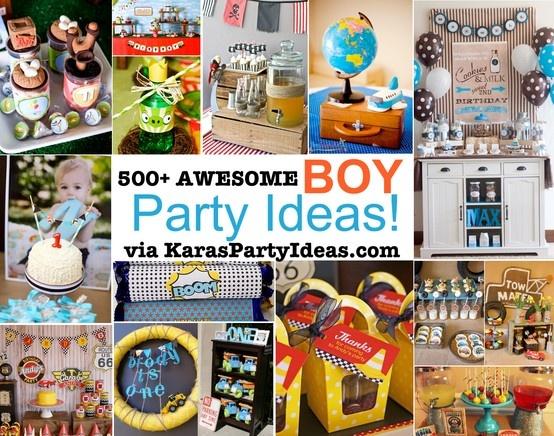 500+ awesome BOY themed PARTY IDEAS via KarasPartyIdeas.com #BoyParty #BoyPartyIdeas