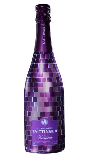 Taittinger Disco Bottle: Add this fun bottle to your home bar for a splash of colour.