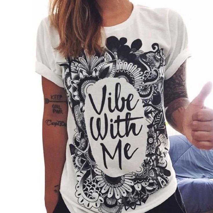 Vovotrade Frauen lösen Sommer Brief Printing Kurzarm Bluse beiläufiger Weste Tops T-Shirt: Amazon.de: Bekleidung