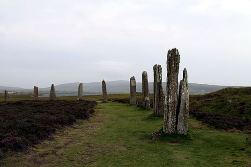 Ring of Brodgar in summer. From Scotland, Outlander, and Standing Stones