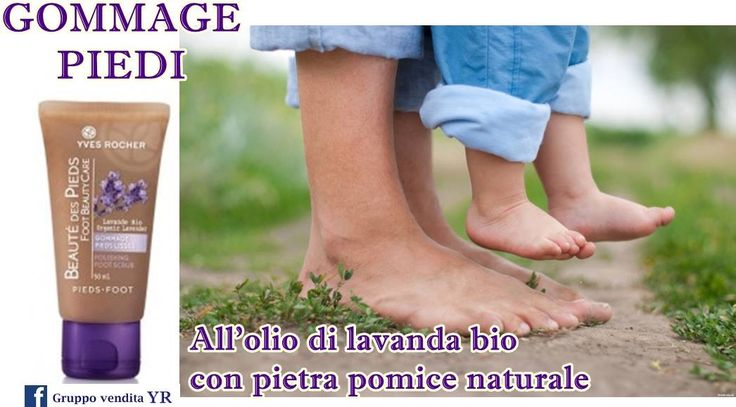 GOMMAGE PIEDI  leviga le rugosità lasciando i piedi incredibilmente morbidi. - l'olio essenziale di Lavanda Bio per il benessere e il comfort dei piedi; - la polvere di nocciolo di Albicocca per esfoliare con dolcezza.