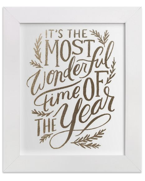 'It's the Most Wonderful time of the Year' print SO cute for holiday decor or a gallery wall!