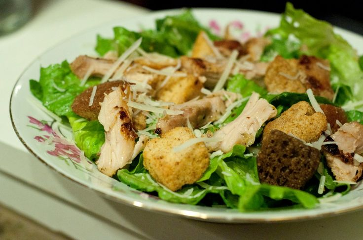 Appetizing Chicken Caesar Salad