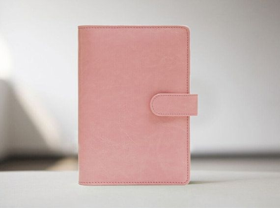 Macaroon Peach Journal Planner Refillable planner/ by Dokkipaper