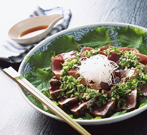 Steak de thon au shoyu koji saisi
