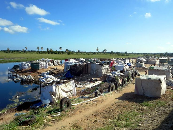 Life is hard for residents of this squatter camp next to the railway line between Lobito and Benguela, Angola.