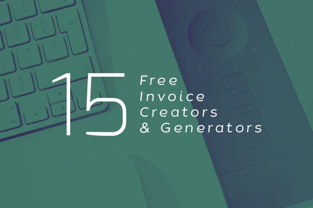 15 free invoice creators and generators that can make the job easier for you: