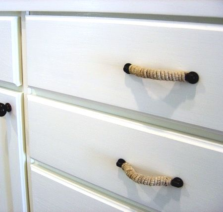 Dress Up Drawers Cabinet Doors With Rope Handles Furniture Pinterest House And Home