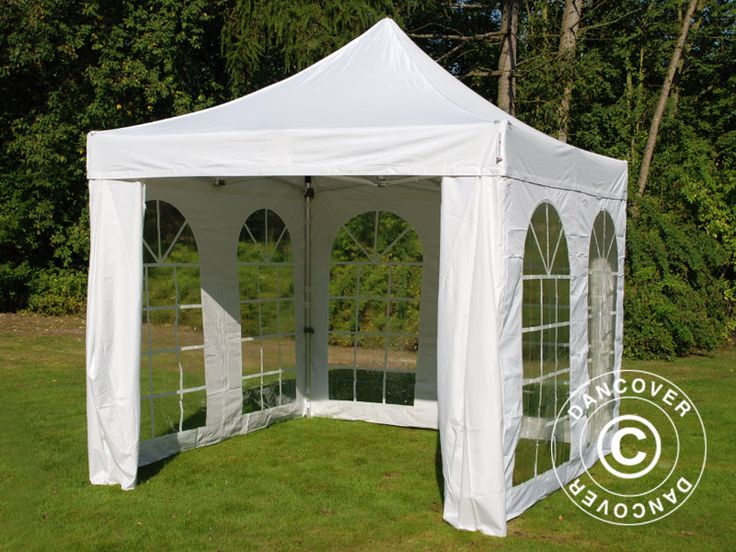 POP UP GAZEBO FLEXTENTS PRO VINTAGE STYLE 3X3 M WHITE, INCL. 4 SIDEWALLS Pop up gazebo FleXtents PRO is a high professional quality pop up gazebo with easy set up in just 60 seconds. Complete set incl. 4 sidewalls, pegs and a practical carry bag with wheels. A flexible, functional and durable pop up gazebo.