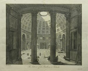 The Interior of the Pantheon, or Rotunda After Piranesi