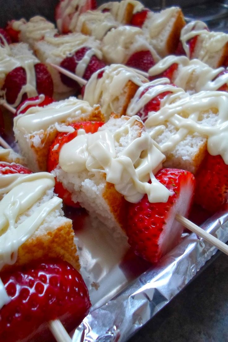 Strawberry Shortcake Kabobs | Awesome idea for a summer party.