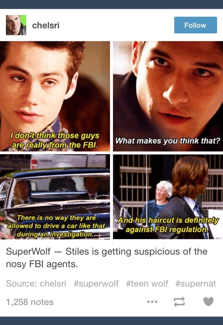 Crossover; SuperWolf; Supernatural; Teen Wolf; tumblr