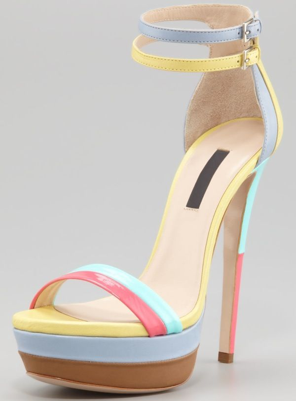 Ruthie Davis West Palm Patent Platform Sandals