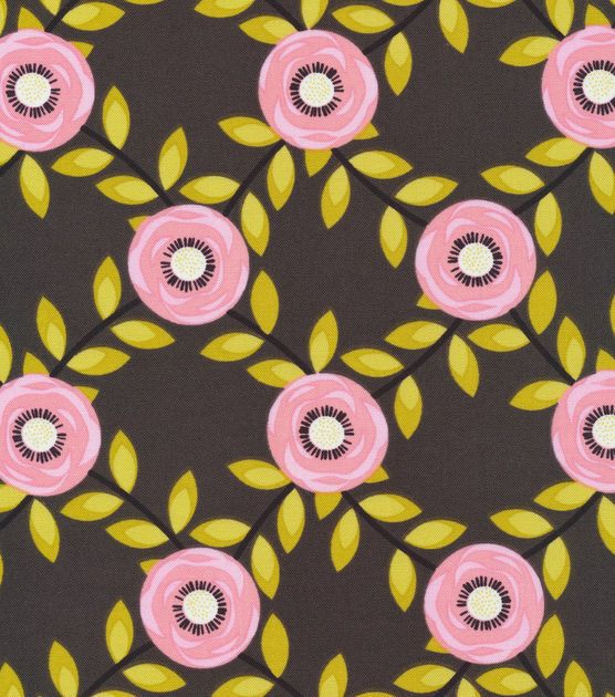 Cloud 9 Organic Cotton Fabric-Roses Red