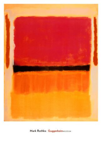 Untitled (Violet, Black, Orange, Yellow on White and Red), 1949 Art Print at AllPosters.com
