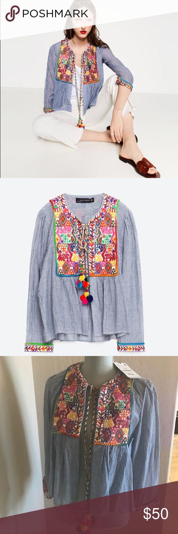 Zara embroidered jacket Zara embroidered jacket NWT size L Zara Jackets & Coats Capes