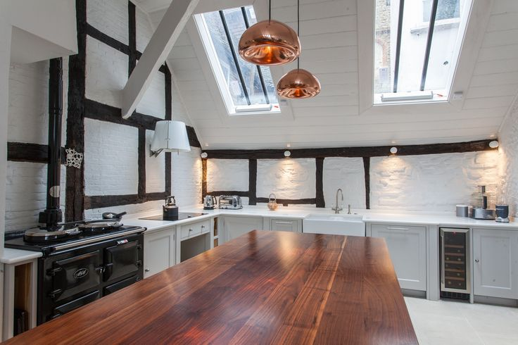 Copper pendant lights as featured in a recent Houzz ideabook | Anthony Edwards Kitchens