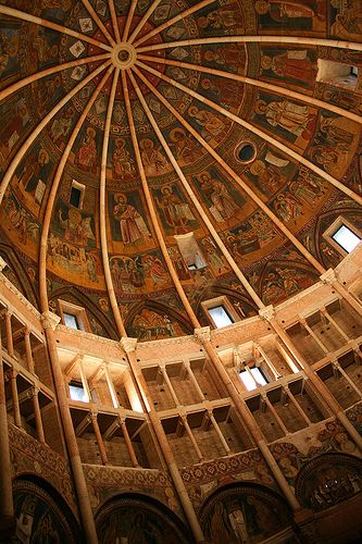 The Baptistery in Parma Italy