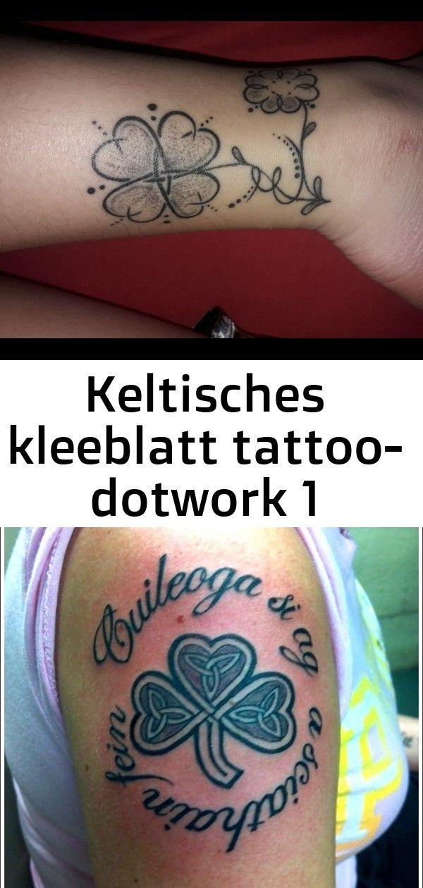 Keltisches Kleeblatt Tattoo Dotwork Kleeblatt Tatowierungs