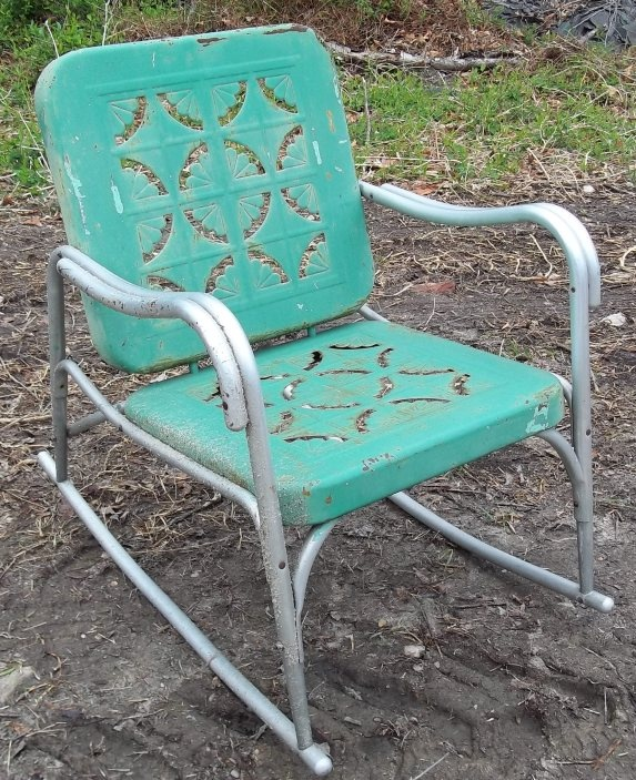 Vintage Metal Rocker with Cutouts - 458 Best Antique Metal Chairs I Love,love,love! Images On Pinterest