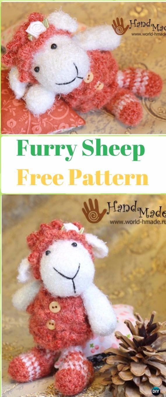 Amigurumi Furry Sheep Free Pattern - Crochet Sheep Free Patterns
