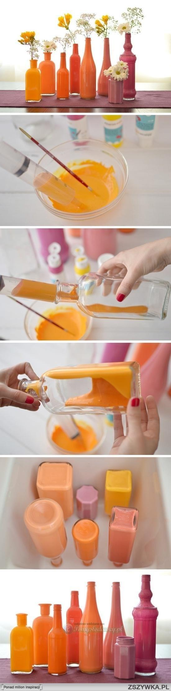butelki ozdobione od środka