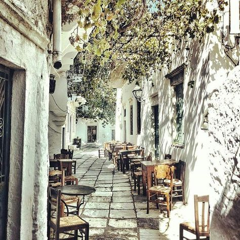 Apiranthos, Naxos, Greece... Photo from @katie_bls! Apiranthos village is by many considered the crown jewel of Naxos, due to the fact that over the centuries it has managed to retain its unique authenticity which is apparent in every step you take, in every alley you walk and wherever you look.