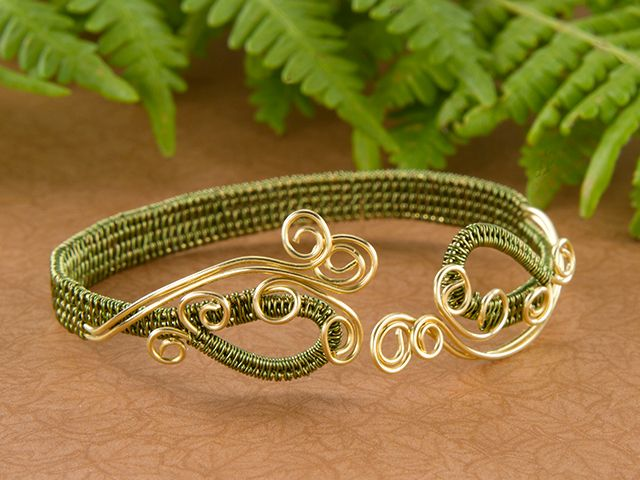 Rolling Fields Bracelet-Love the technique except for the swirly curves at the end.