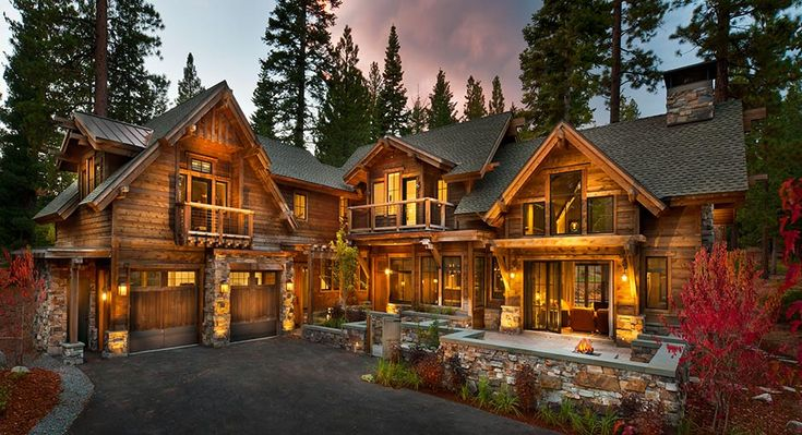 Top 25 ideas about log homes log cabins on pinterest for Luxury homes for sale in lake tahoe
