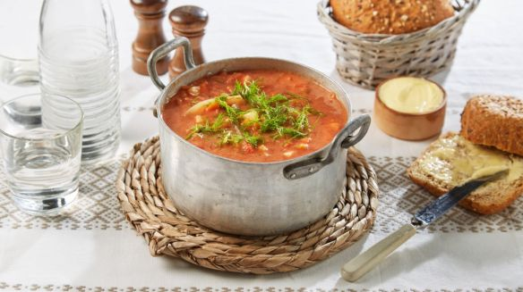 Oppskrift på Fransk grønnsaksuppe