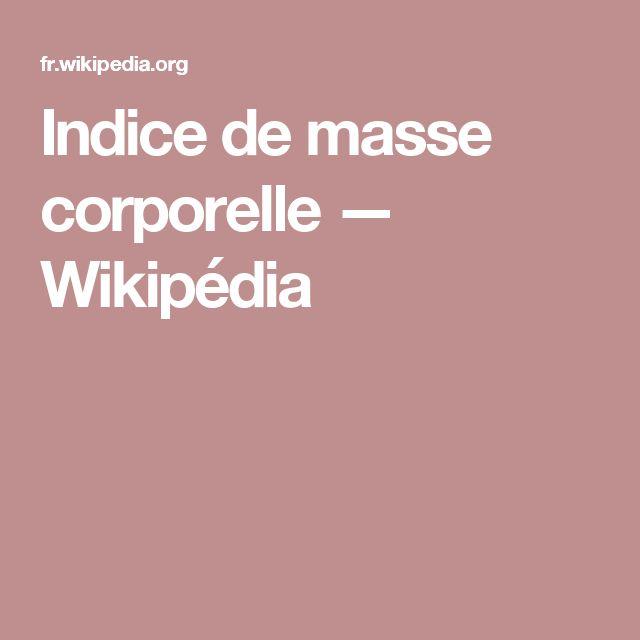 Indice de masse corporelle — Wikipédia