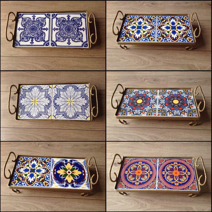 As elegantes bandejas iron doubleblock, em algumas de suas versões. Peça top!