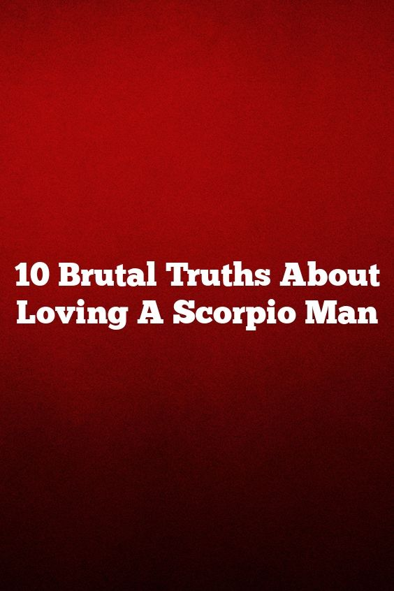 dating a married scorpio man