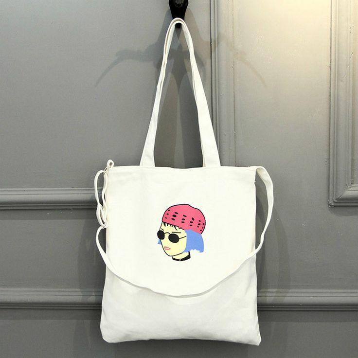 Korean Fashion tote bag Другие холщовые сумки с интересными принтами смотрите здесь http://blogosum.com/posts/promo-sumki и здесь http://www.prospero.spb.ru/index.php/articles/43.html