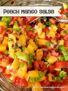 Peach Mango Salsa - perfect for salad or chicken!