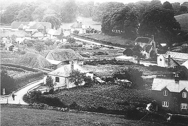 Picture of Imber in the 1920s, taken by Ken Mitchell of Melksham, who grew up in the village